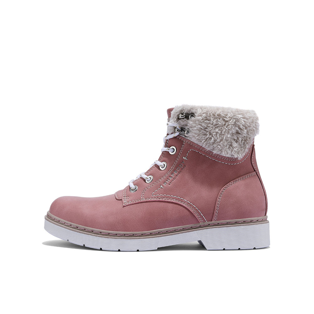 Women's Casual Fluffy Collar Ankle Boots